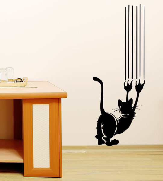Cat Scratch Vinyl Wall Decal Sticker