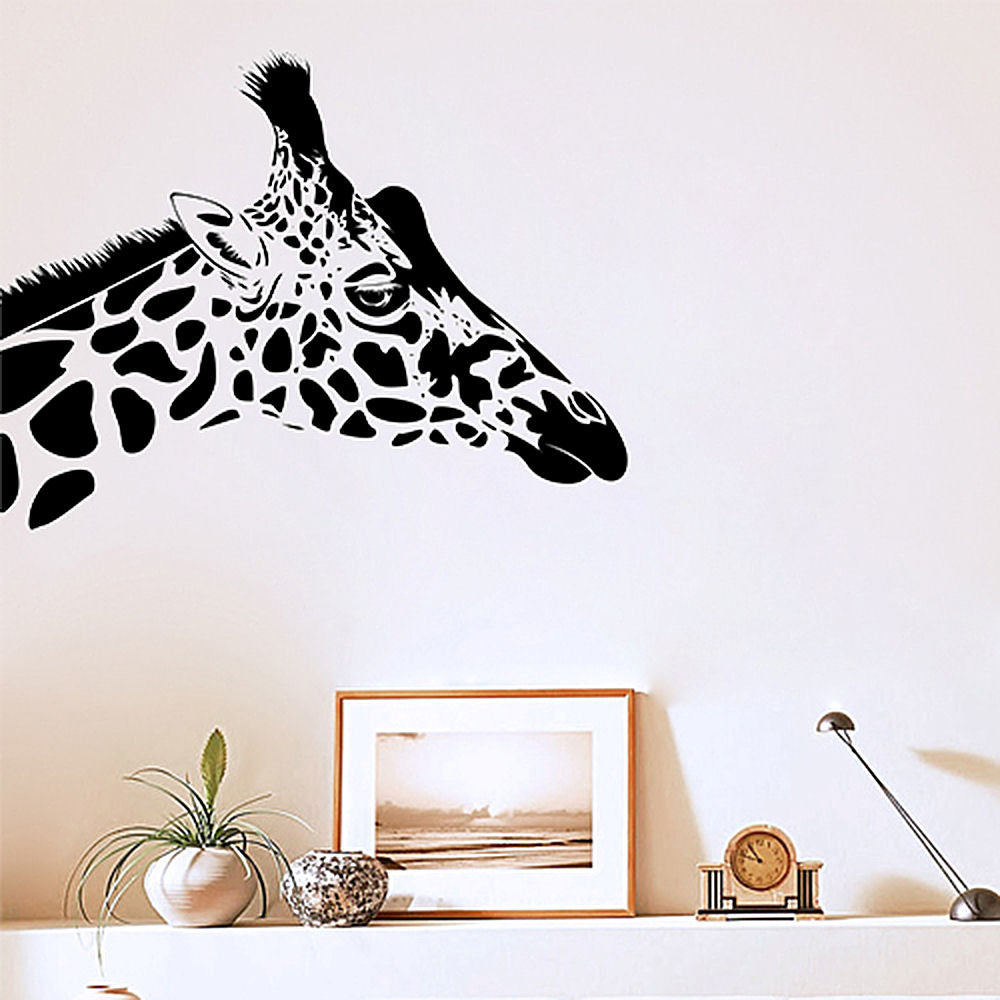 Giraffe Head Vinyl Wall Decal