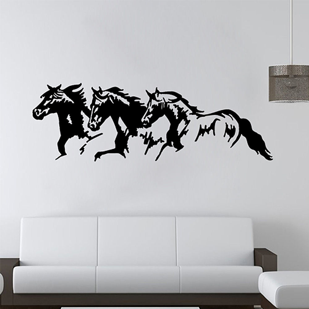 Horse Trio Vinyl Wall Decal Sticker