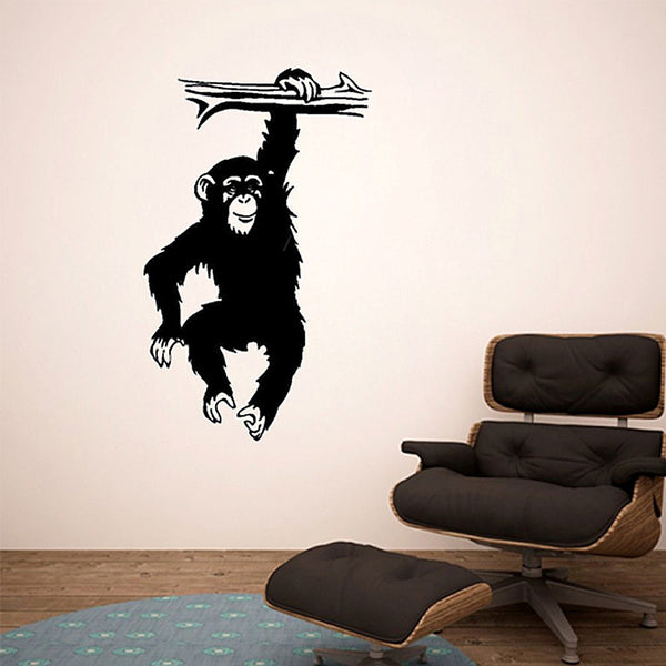 Monkey Business Chimp Vinyl Wall Decal