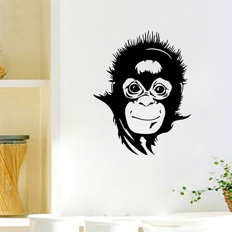 Monkey Face Vinyl Wall Decal
