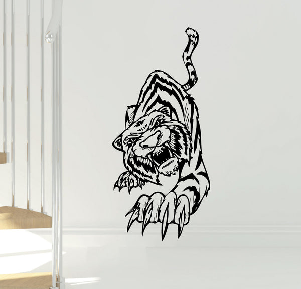 Tiger Attack Vinyl Wall Decal Sticker