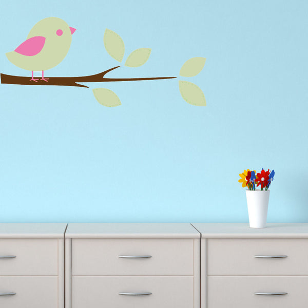 Bird on a Branch Wall Decal Sticker 3 Color