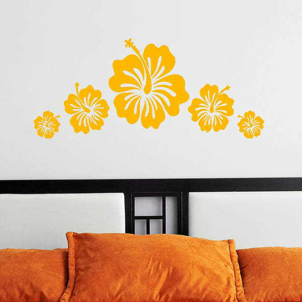 Hibiscus Flower Set of 5 Graphic Wall Decal