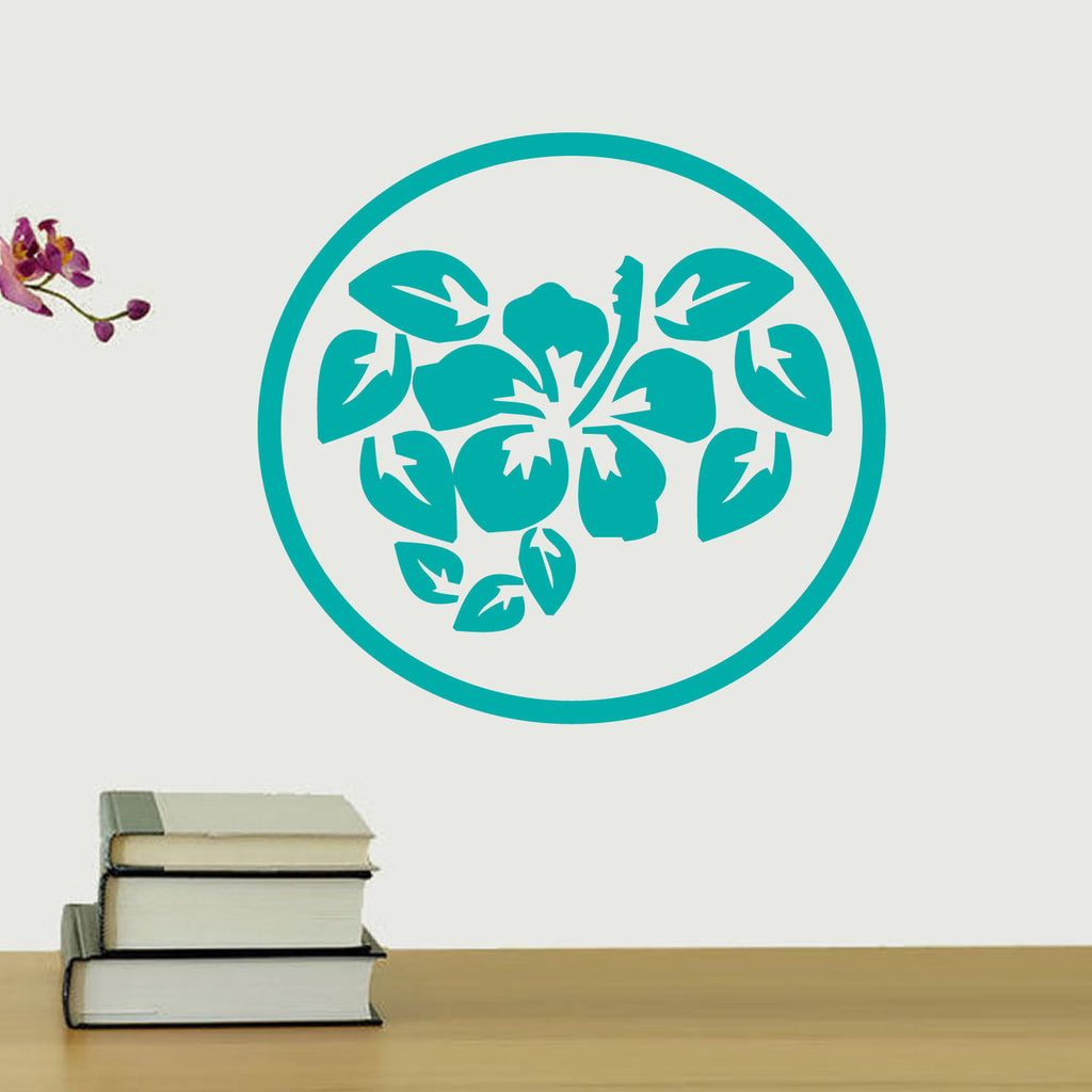 Hibiscus Circle Graphic Wall Decal