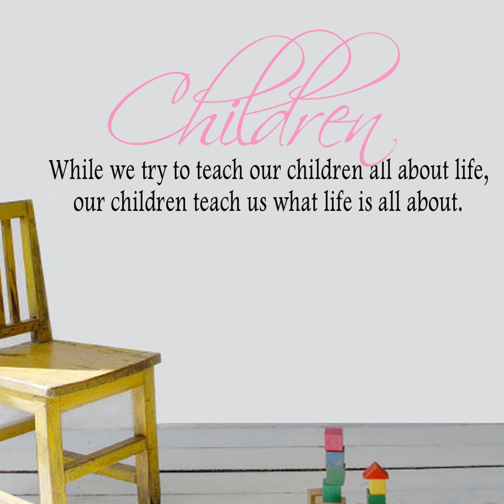 Children Two Color Vinyl Wall Quote Decal