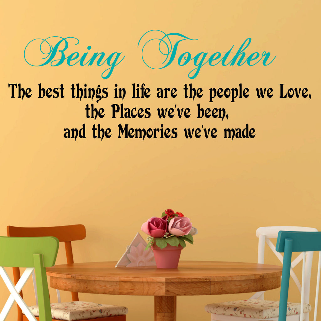 Being Together Two Color Wall Decal