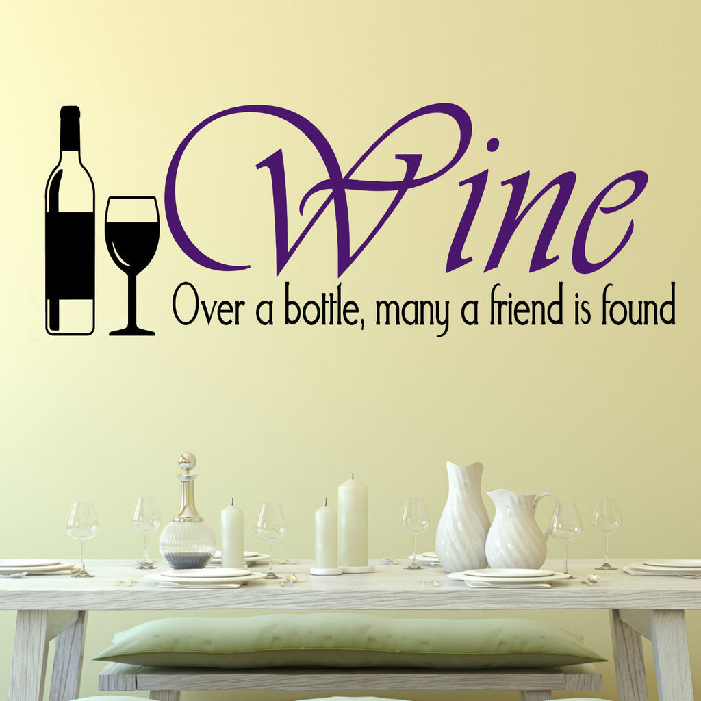 Wine, Over a Bottle Wall Decal