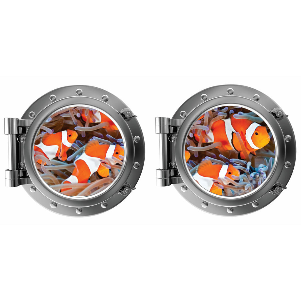 Clown Fish Porthole Fabric Wall Decal