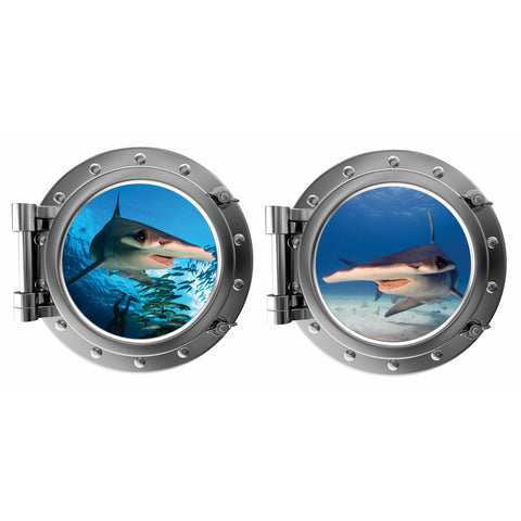 The Hammerheads Porthole Fabric Wall Decal