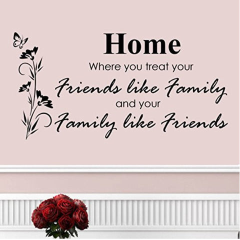 Home, Where You Treat Your Family Like Friends Wall Decal