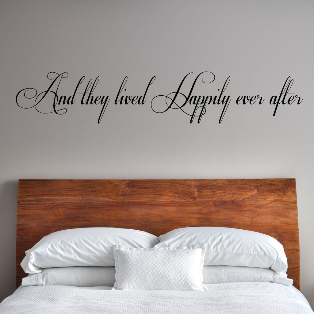 And they lived Happily ever after Wall Decal Graphic