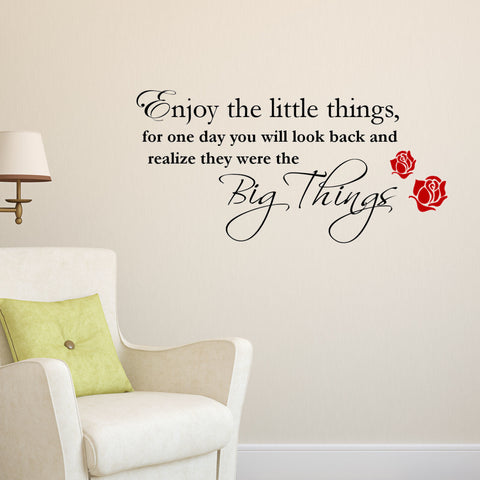Enjoy the Little Things Wall Decal Graphic