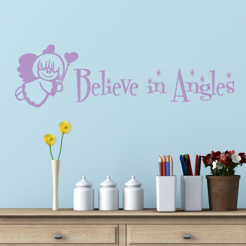 Believe in Angels Wall Decal Graphic