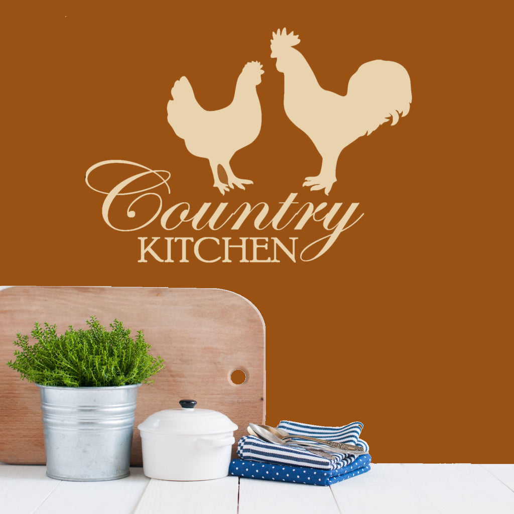 Country Kitchen Wall Decal Graphic