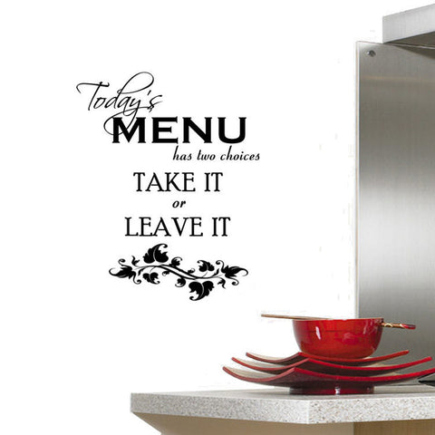 Today's Menu Has Two Choices Wall Decal Graphic