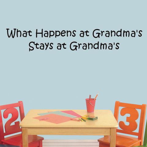 What Happens at Grandma's Stays at Grandma's Wall Decal Graphic