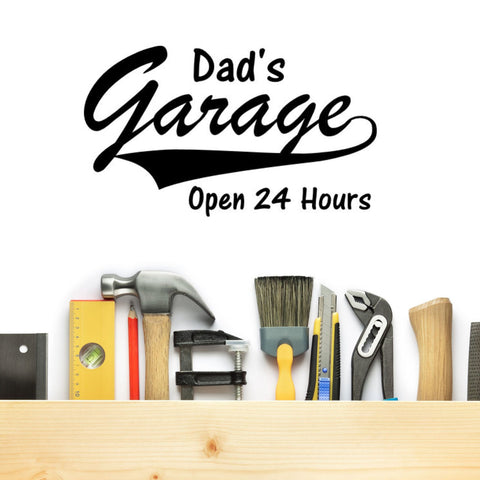 Dad's Garage Wall Decal Graphic