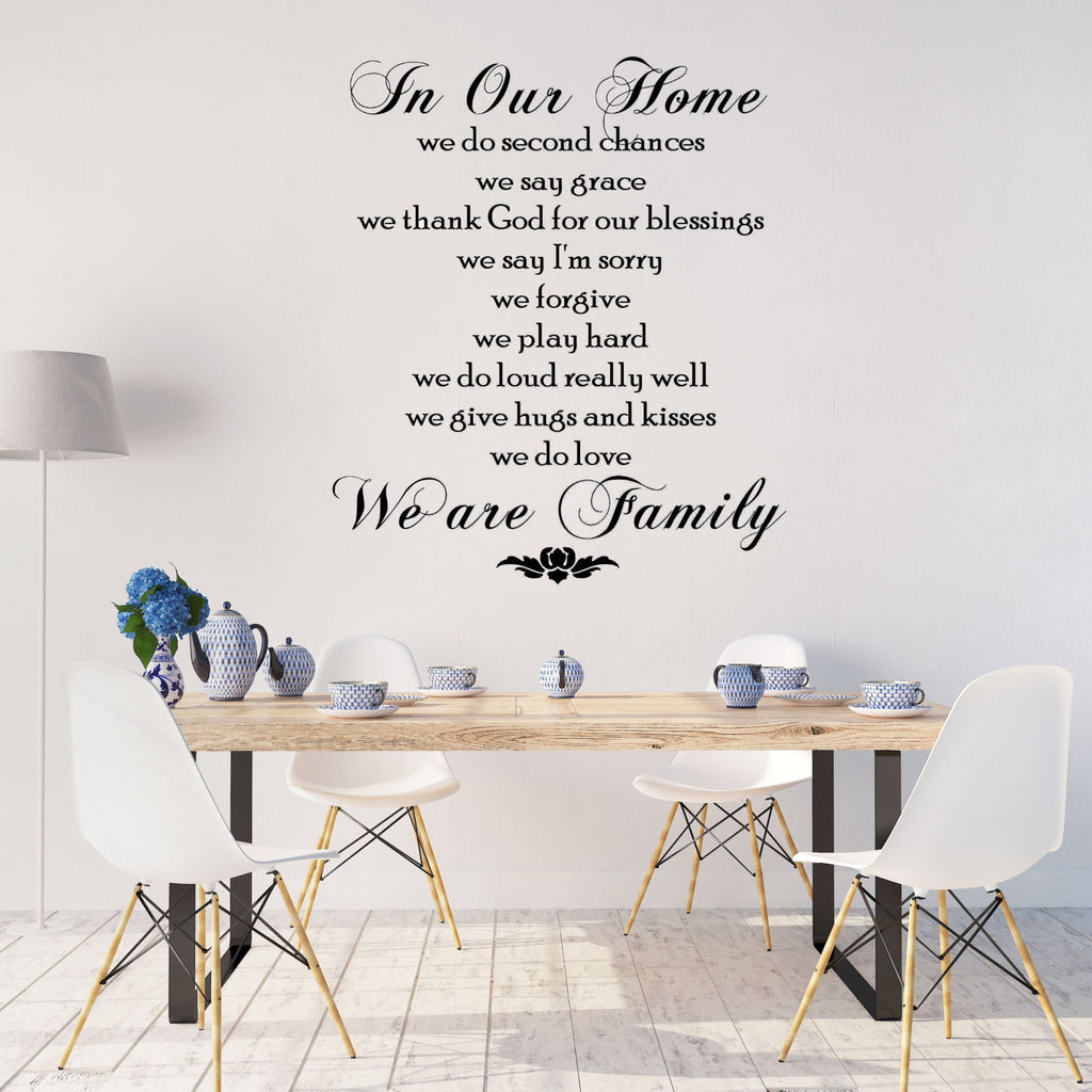 In Our Home We Do......Wall Decal Quote