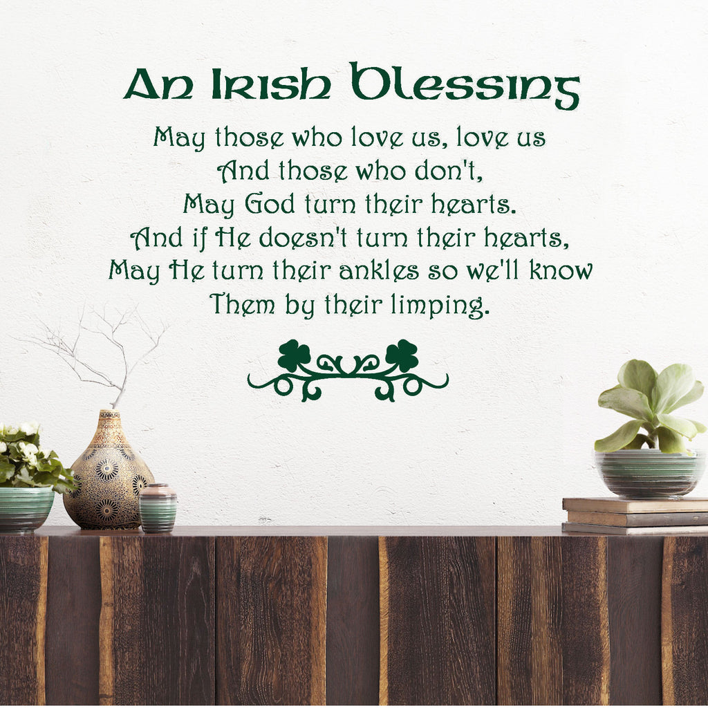 Irish Blessing Quotes An Irish Blessing..Wall Decal Quote – Decal the Walls Irish Blessing Quotes