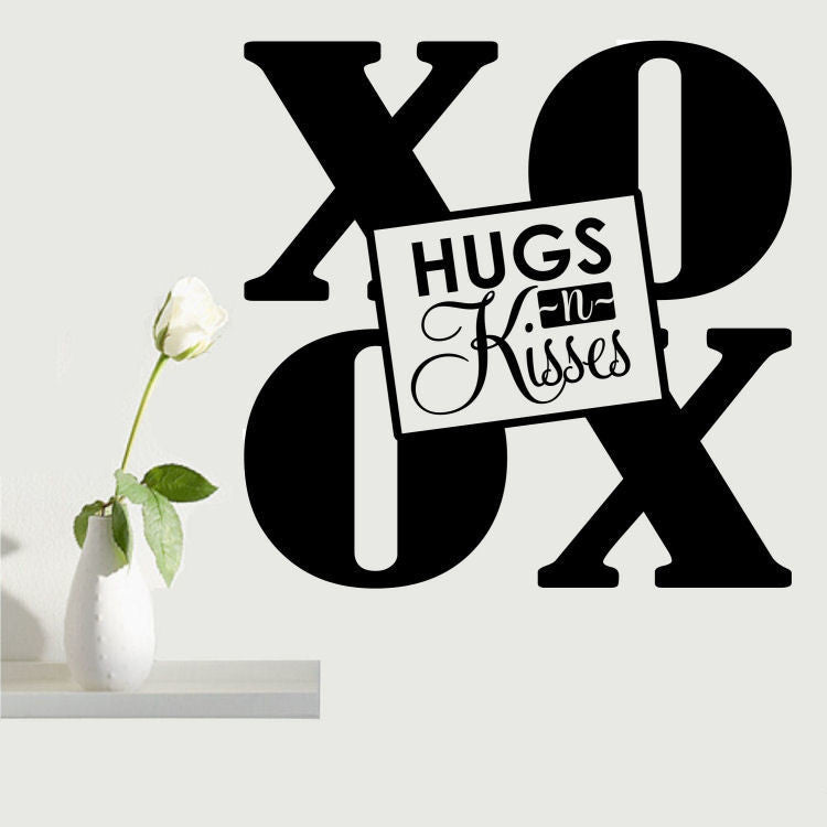 XO Hugs and Kisses Wall Decal