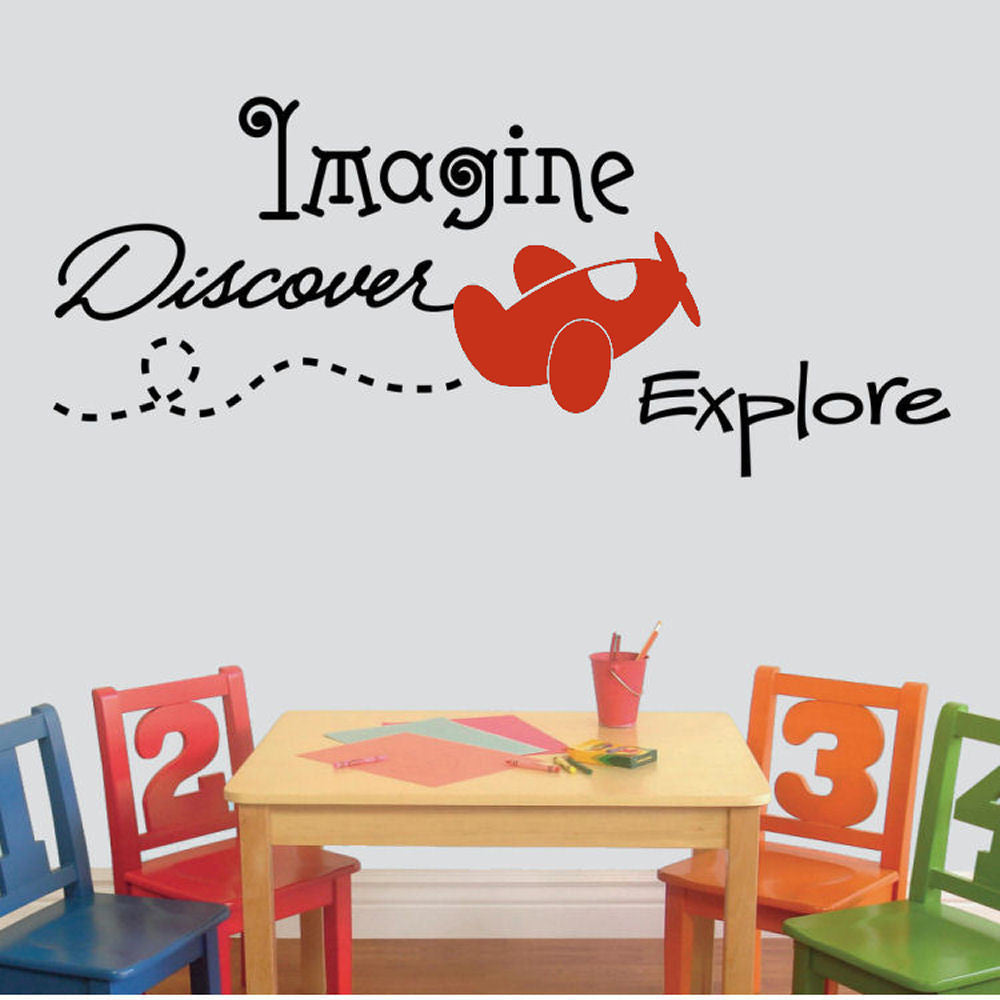 Imagine, Discover, Explore' Vinyl Wall Decal
