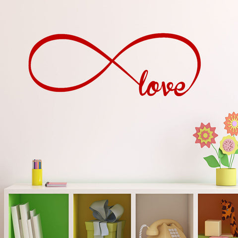 Love Infinity Symbol Wall Decal