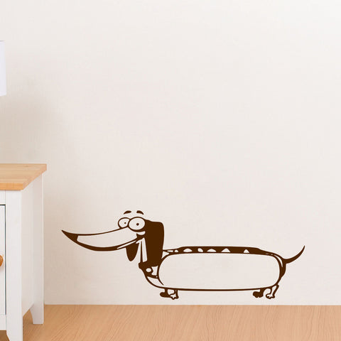 Hot Dog Dog Wall Decal Sticker