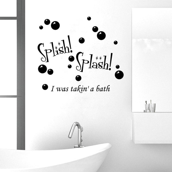 Splish Splash I Was Taking a Bath Wall Decal Sticker