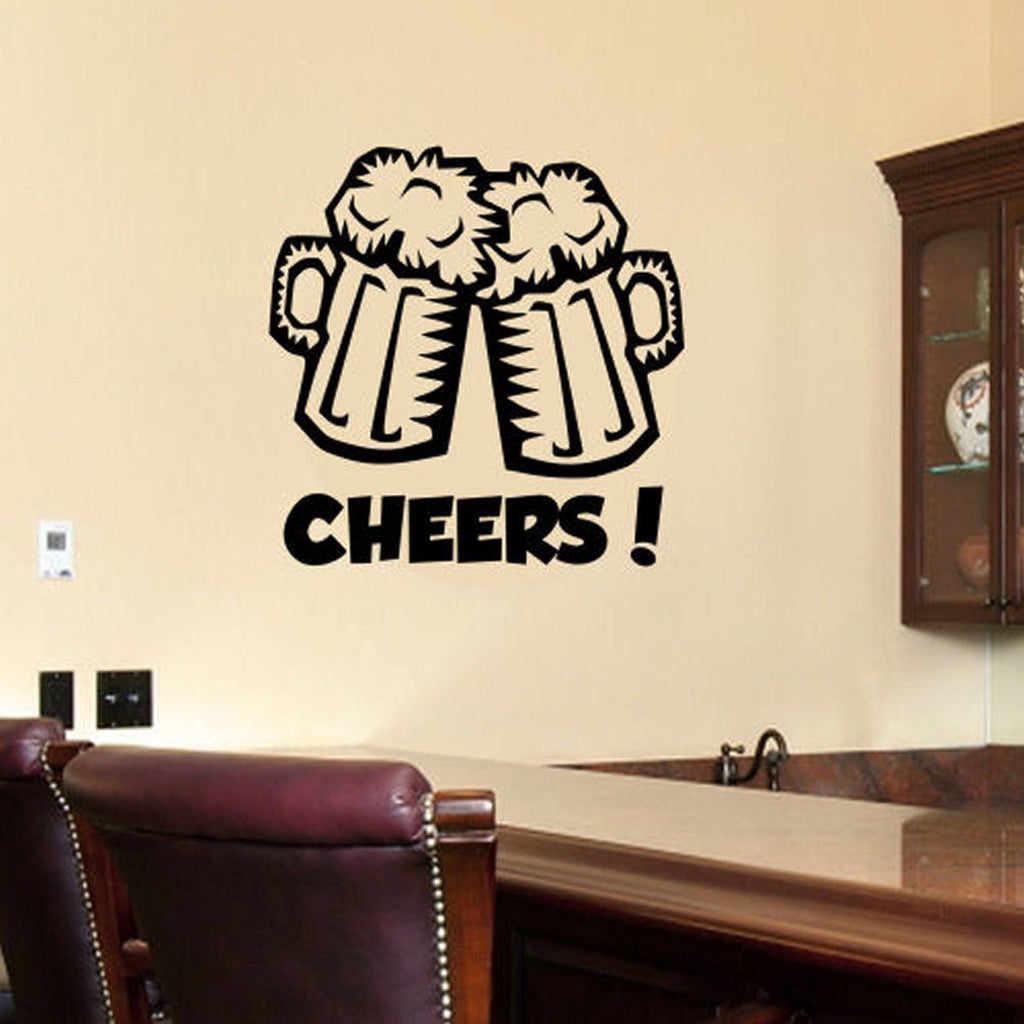 Cheers Beer Mugs Wall Decal Decal The Walls