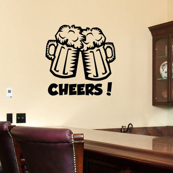 Cheers Beer Mugs Wall Decal