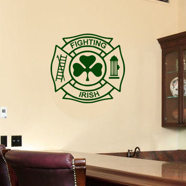 Fighting Irish Fireman's Shield Wall Decal