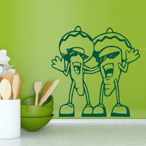 Chili Pepper Friends Wall Decal Set
