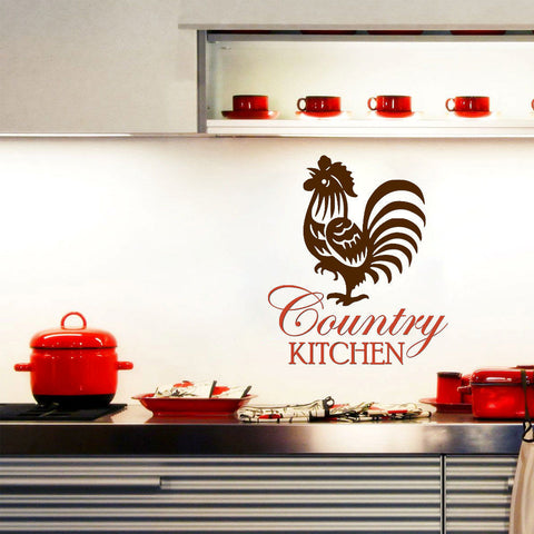 Country Kitchen Wall Words Decal 2 Color