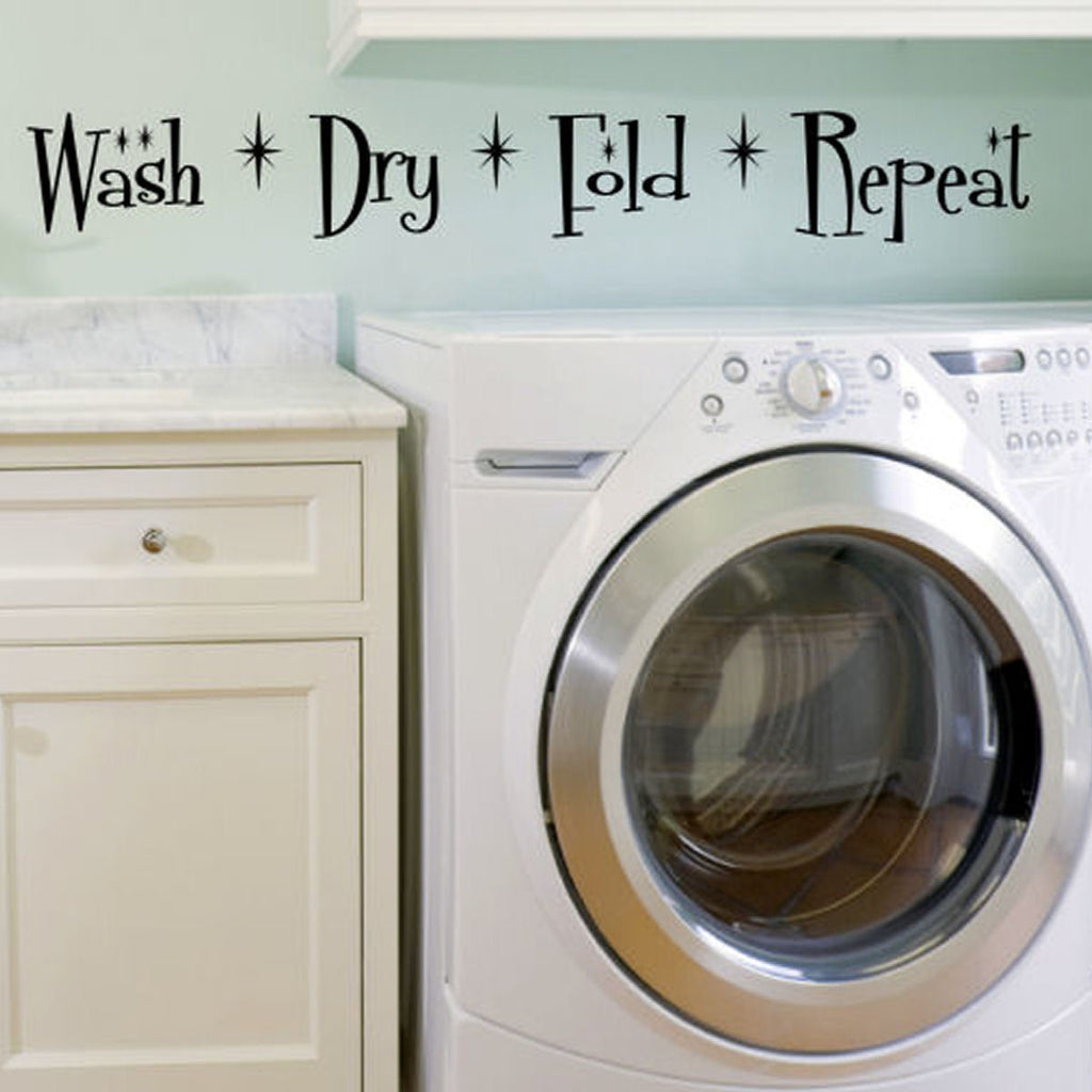 Wash Dry Fold Repeat Wall Decal Sticker