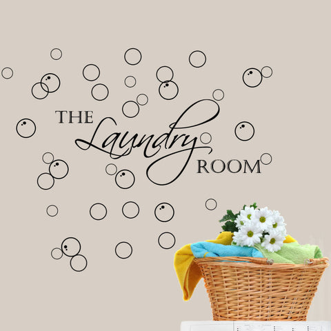 Laundry with Bubbles Wall Decal Sticker