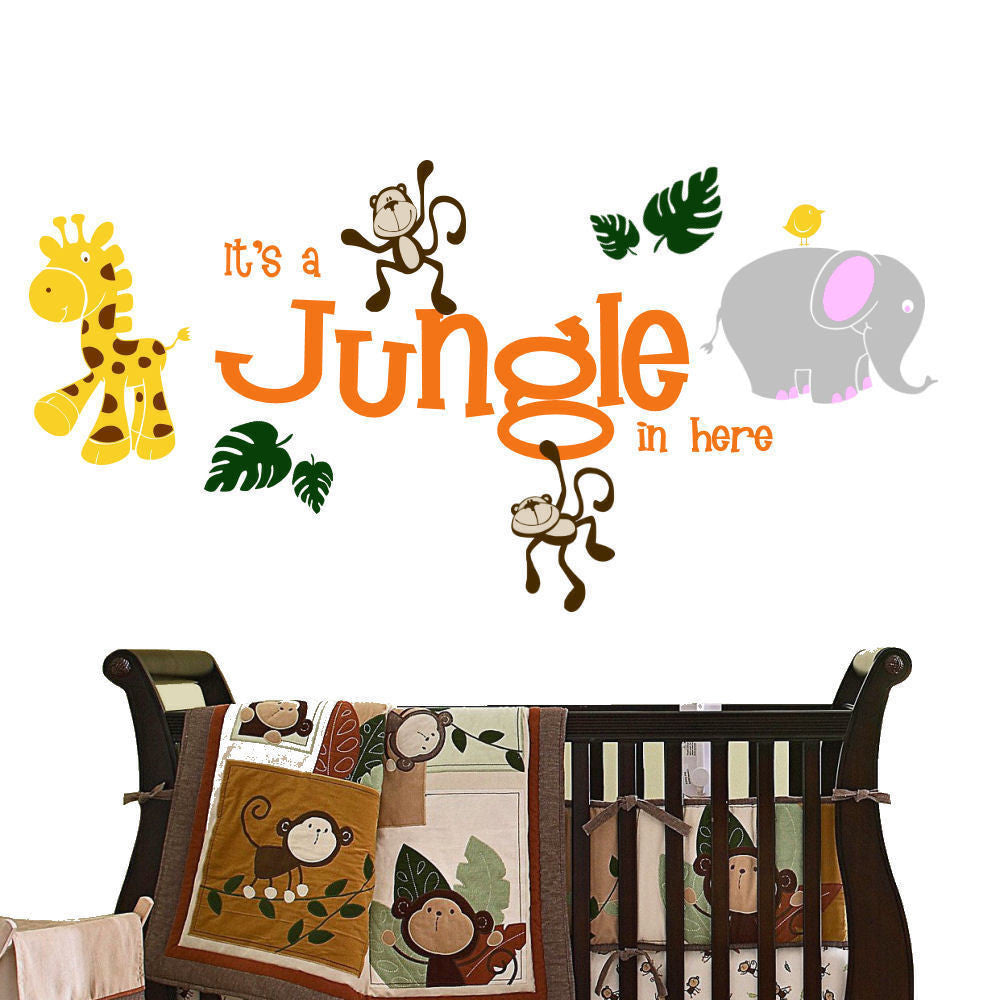 It's a Jungle in Here Animal Wall Decal Sticker