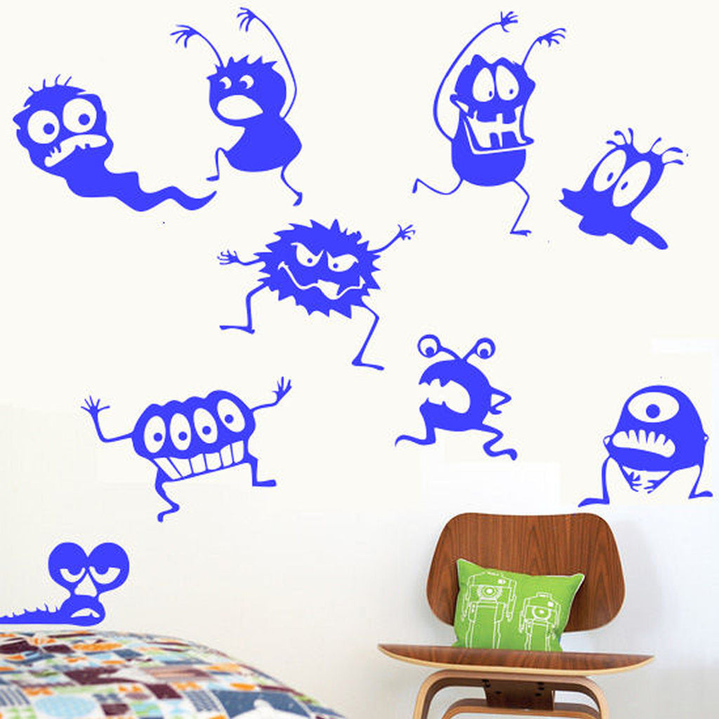 Monster Party Wall Decal Sticker