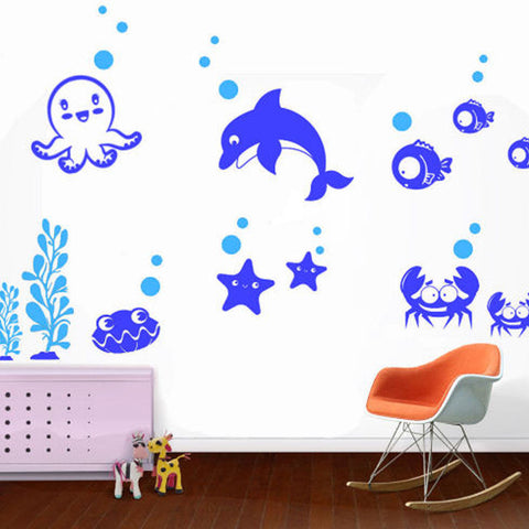 Under the Sea Friends Wall Decal 2 Colors