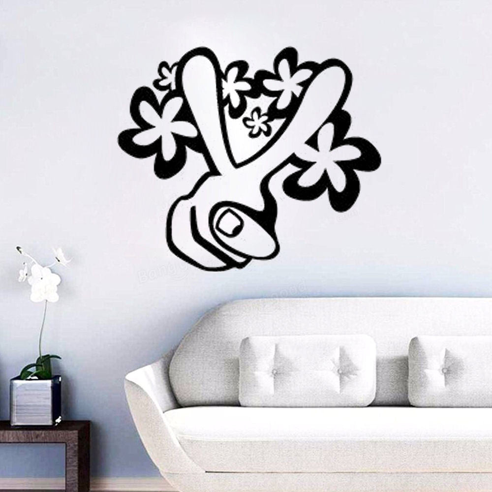 Peace Sign Fingers Wall Decal