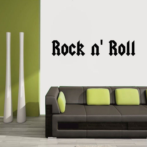 Rock n Roll Wall Decal Sticker