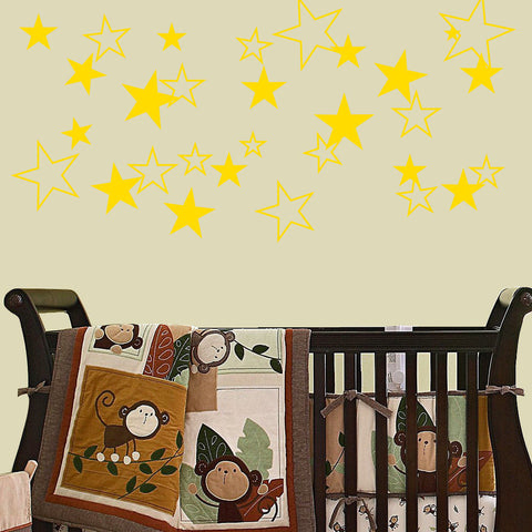Stars Solid and Outline 50 Piece Set