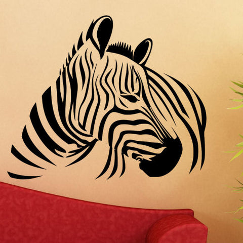Zebra Body Wall Decal Sticker