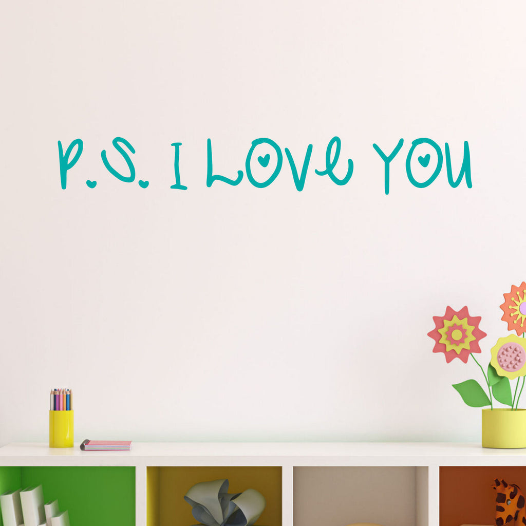 P.S. I Love You Vinyl Wall Decal