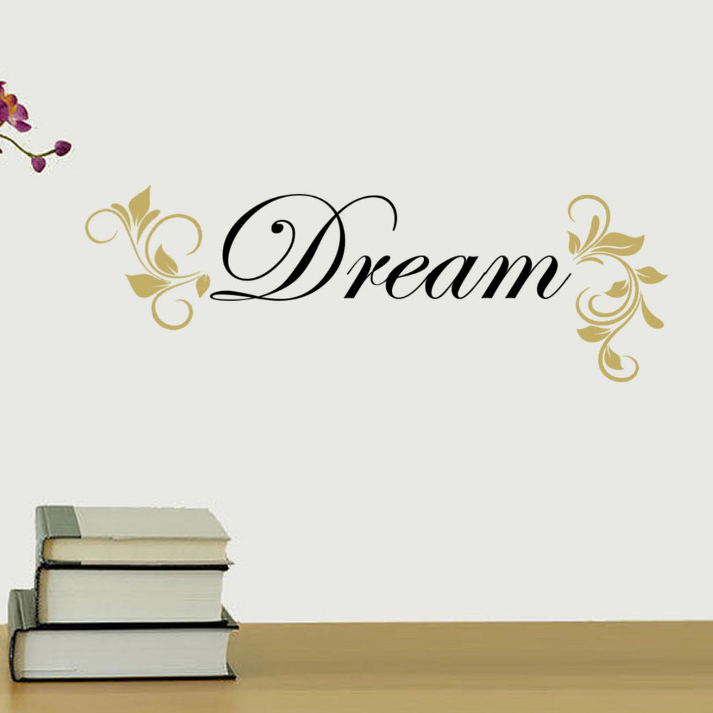 Dream Two Color Vinyl Wall Quote Decal