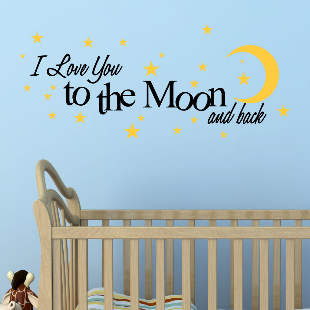 'I Love You to The Moon and Back' Vinyl Wall Quote Decal