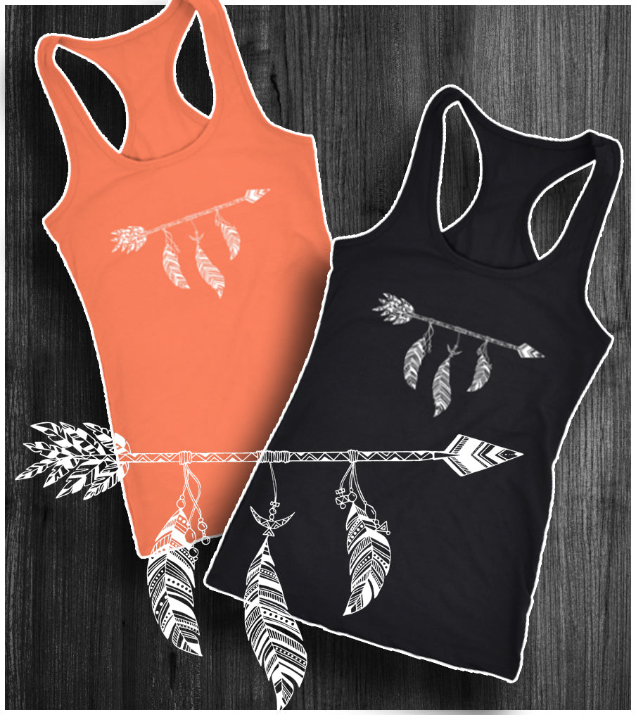 Arrow and Feather Racerback