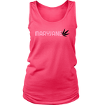 Maryjane Discreet Cannabis Black & Pink Tank Top - Mind . Body . Spirit . Mana - Cannabis Marijuana Lifestyle Women's Clothing
