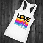Love Multicolor Ranbow Tank Top - Mind . Body . Spirit . Mana - Cannabis Marijuana Lifestyle Women's Clothing