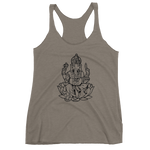 Ganesh Women's Racerback Black Image Tank - Mind . Body . Spirit . Mana - Cannabis Marijuana Lifestyle Women's Clothing